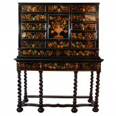 Louis XIV Cabinet inlaid flowers