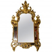 French Regency period giltwood Mirror
