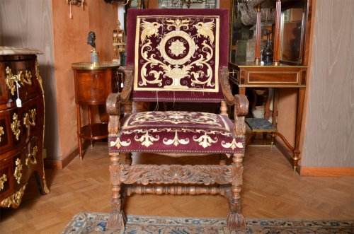 Beautiful pair of french Louis XIV armchairs - Seating Style Louis XIV