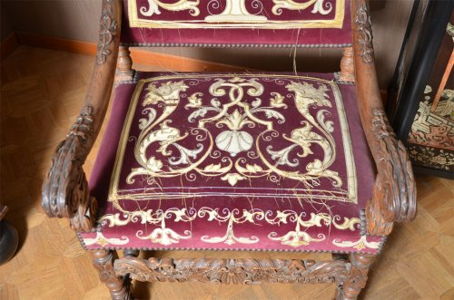 Beautiful pair of french Louis XIV armchairs - Louis XIV