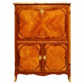 Louis XV Secretaire a abattant Stamped Genty