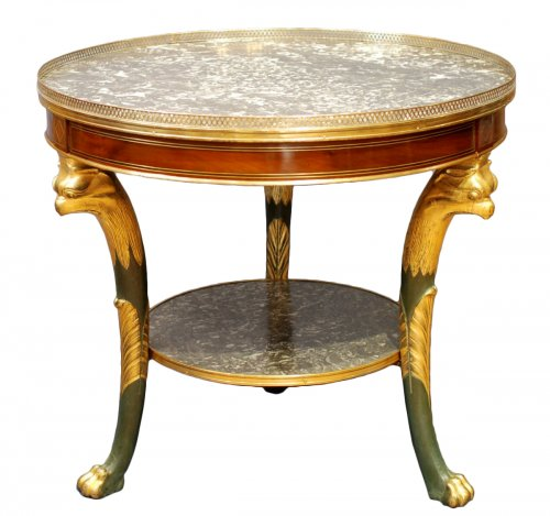 French Empire pedestal table