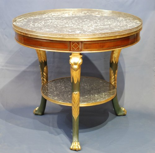French Empire pedestal table - Furniture Style Empire