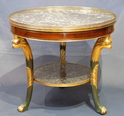 Antiquités - French Empire pedestal table