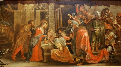 Paintings & Drawings  - Adoration of the Magi Antwerp school 17th century