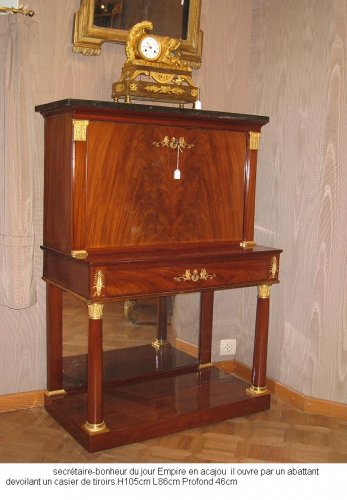 A French Empire Mahogany Bonheur du Jour - Furniture Style Empire