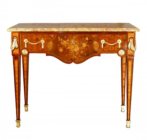 A French Louis XVI marquetry console