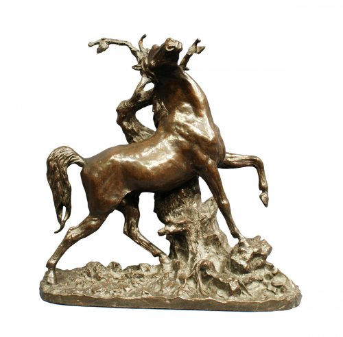 Cheval en bronze patiné - Christophe Fratin (1801-1864)