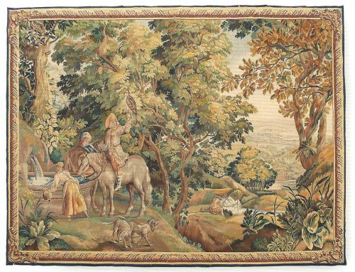 A 19th century Aubusson tapestry
