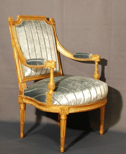 A fine pair of gildwood armchairs stamped A Gaillard - Seating Style Louis XVI