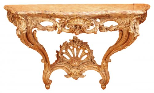 A french Transition giltwood console 18th century