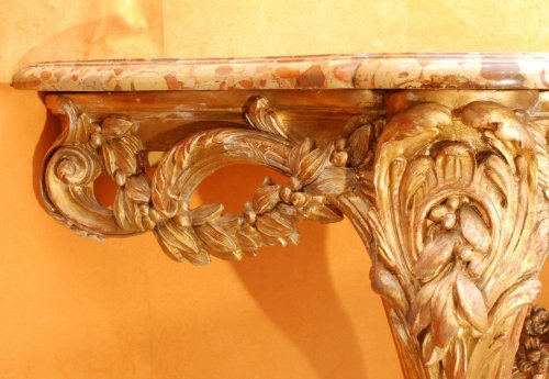 A french Transition giltwood console 18th century -