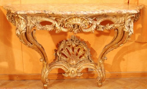 A french Transition giltwood console 18th century - Transition