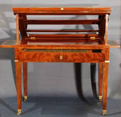 A Directoire mahogany architects table -