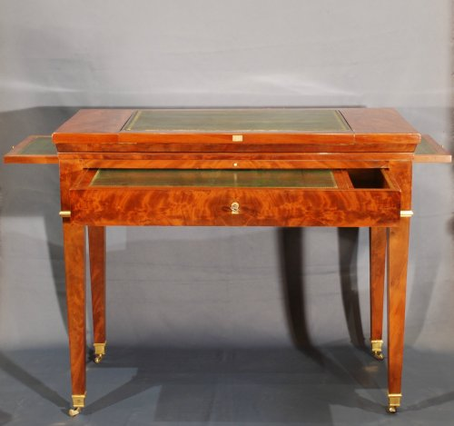 18th century - A Directoire mahogany architects table