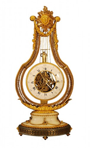 A  french Louis XVI Lyre clock