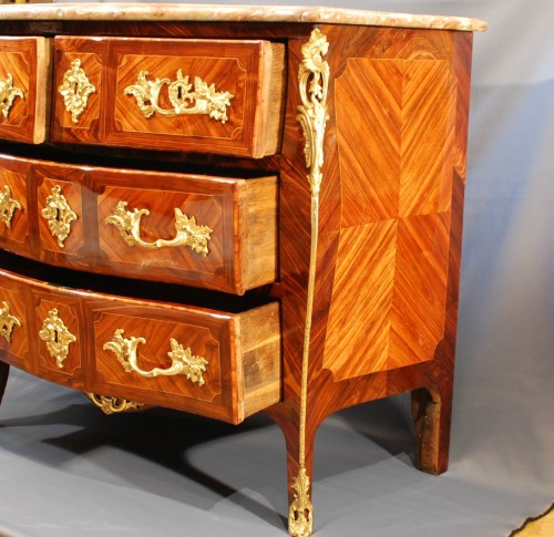 Furniture  - A French Louis XV ormolu mounted commode by Détroulleau
