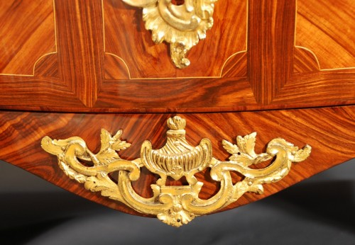Antiquités - A French Louis XV ormolu mounted commode by Détroulleau