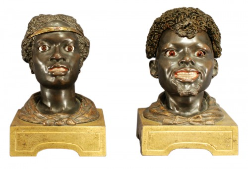 A Charles X couple of moorish figures