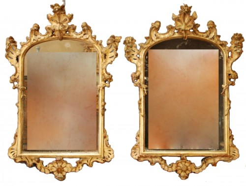 An italian pair of mirrors 18th century