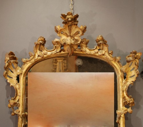 An italian pair of mirrors 18th century - Louis XV
