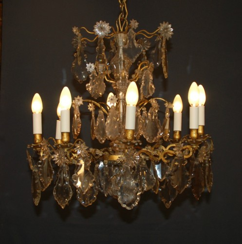 A Louis XV period crystal chandelier . - Lighting Style Louis XV
