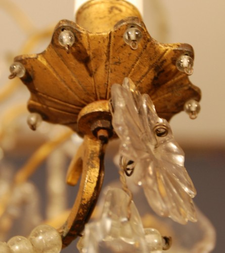 A Louis XV period crystal chandelier . -