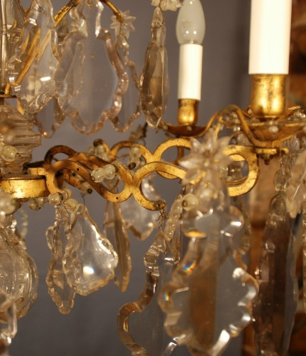 18th century - A Louis XV period crystal chandelier .