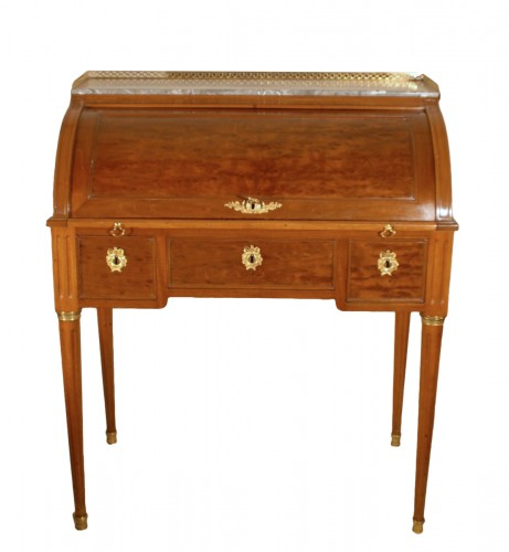 A small Louis XVI mahogany desk