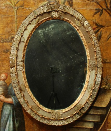 Antiquités - Venetian mirror 18th century