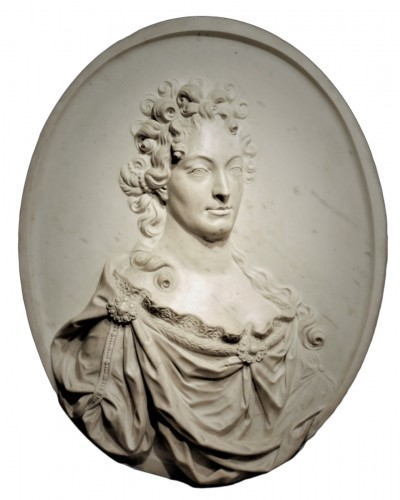 The Duchess of Burgundy marble medallion early 18th century