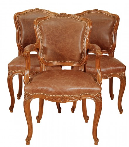 A Louis XV set of four chairs