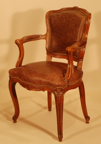 A Louis XV set of four chairs - Seating Style Louis XV