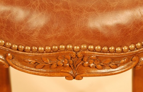 A Louis XV set of five chairs -