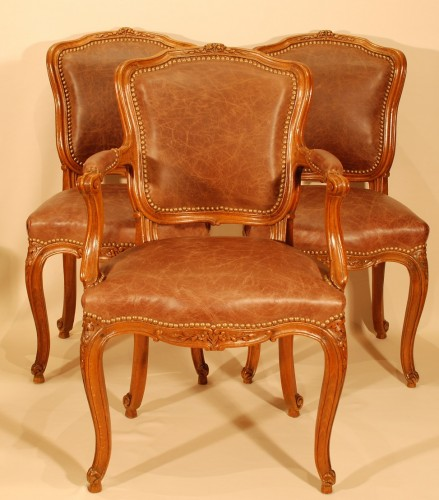 Louis XV - A Louis XV set of four chairs
