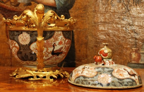 Decorative Objects  - An Imari porcelain ormolu mounted