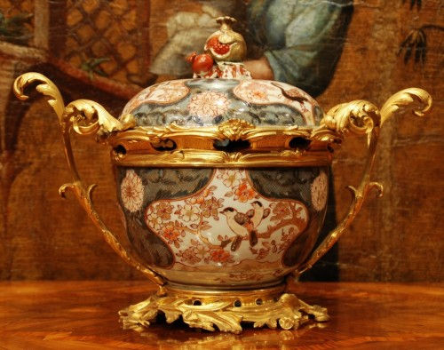 Antiquités - An Imari porcelain ormolu mounted