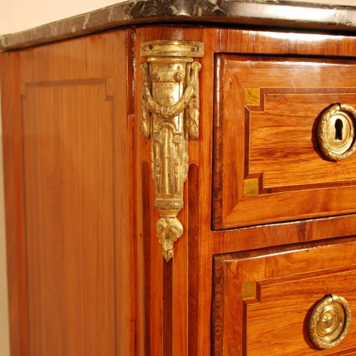 A french Transition tulipwood and ormolu commode - Transition