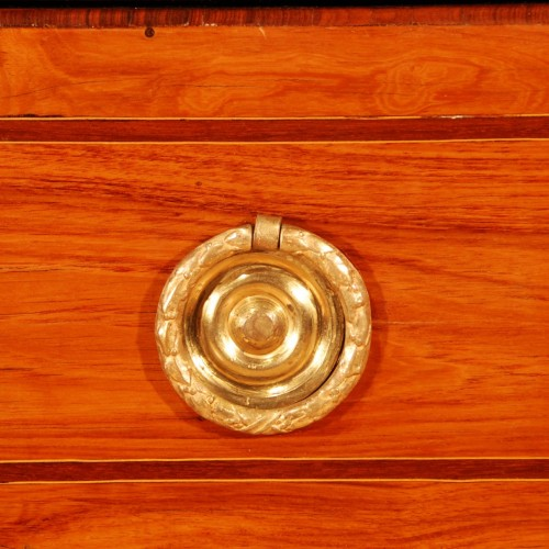 Transition - A french Transition tulipwood and ormolu commode