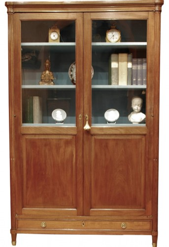 Large solid mahogany bookcase