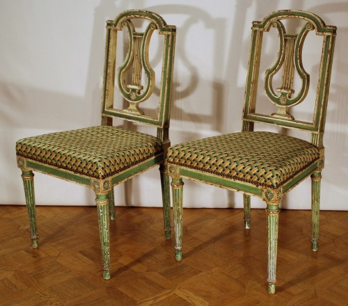 Eight Louis XVI style 19th century chairs - Seating Style