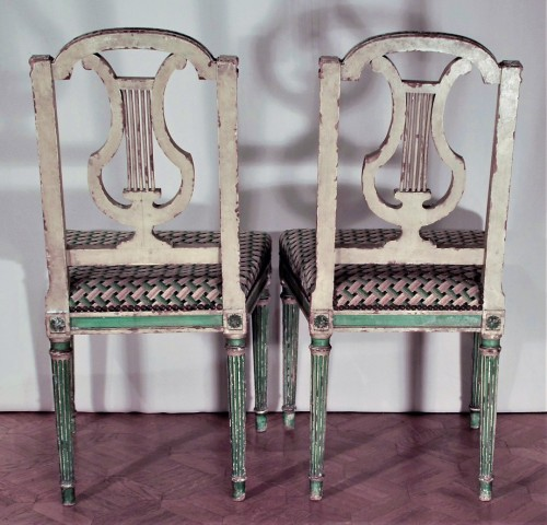 19th century - Eight Louis XVI style 19th century chairs