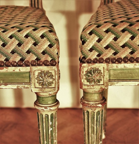 Eight Louis XVI style 19th century chairs -