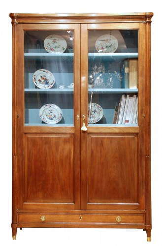 Large Louis XVI mahogany bookcase