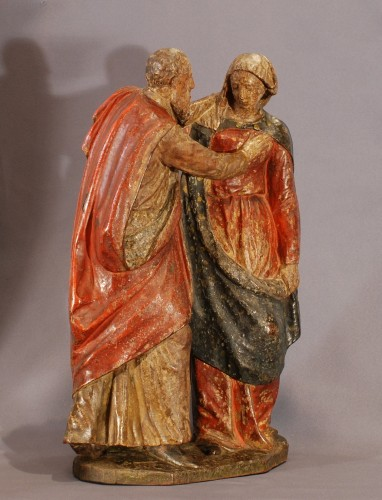 Marriage of St Anne and St Joachim - Sculpture Style Renaissance