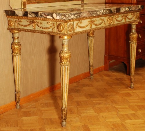 Neo-classical console table Italy late 18th century - Furniture Style Louis XVI