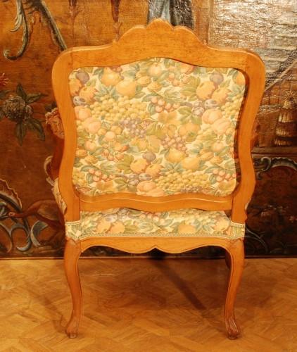 19th century - Four large armchairs Louis XV style 19th century