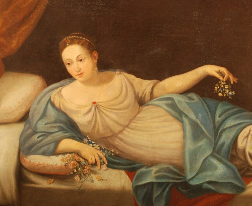 Louis XIII - A large italian painting of Vénus and Cupidon 18th century