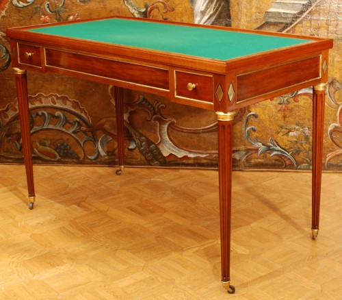 Furniture  - a french mahogany Louis XVI game table