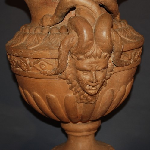 Decorative Objects  - A french terracotta Neo-Classical Vase